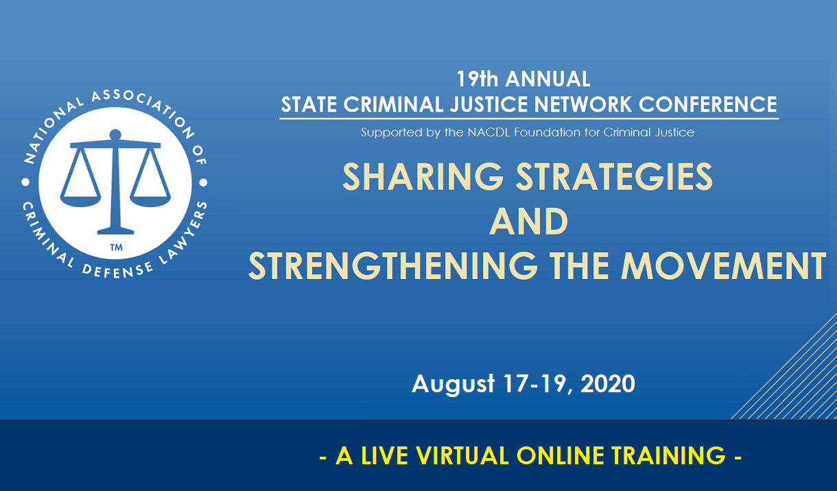 2020 State Criminal Justice Network Conference Cover