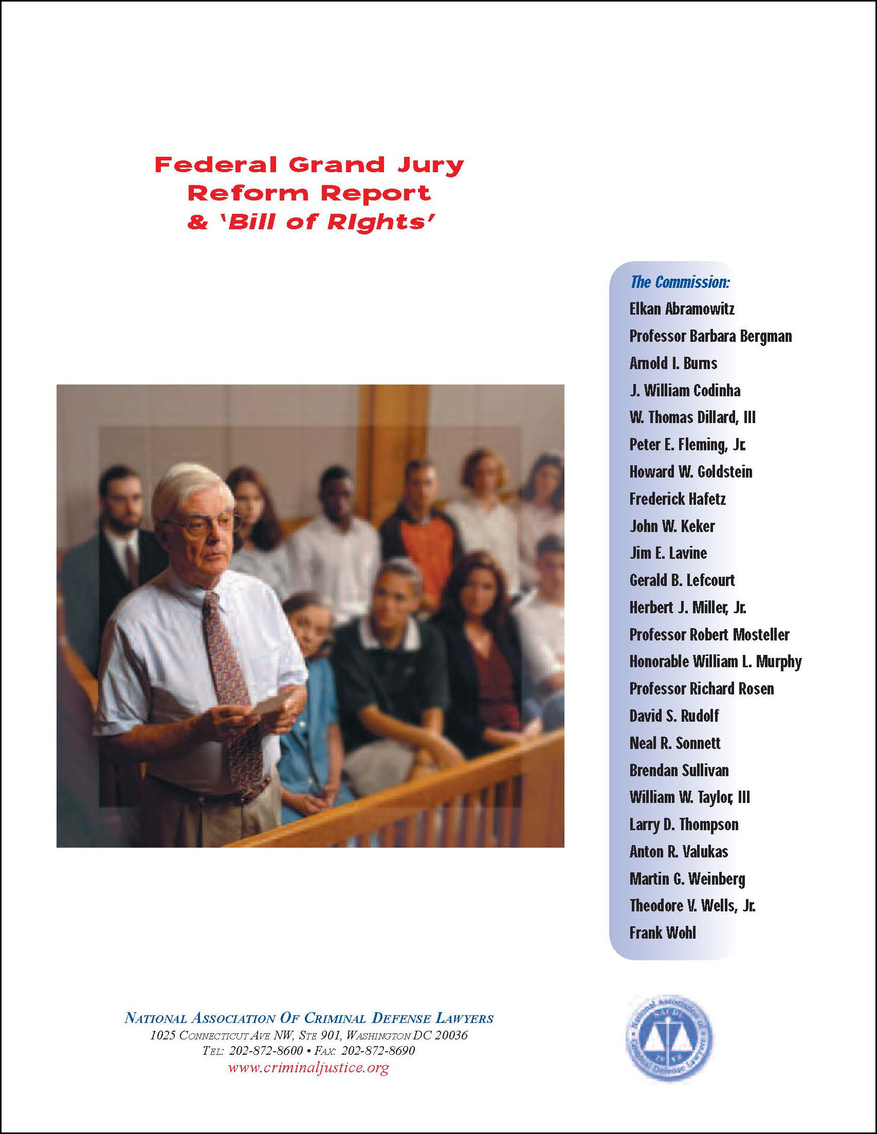 Federal Grand Jury Reform Report & Bill of Rights Cover