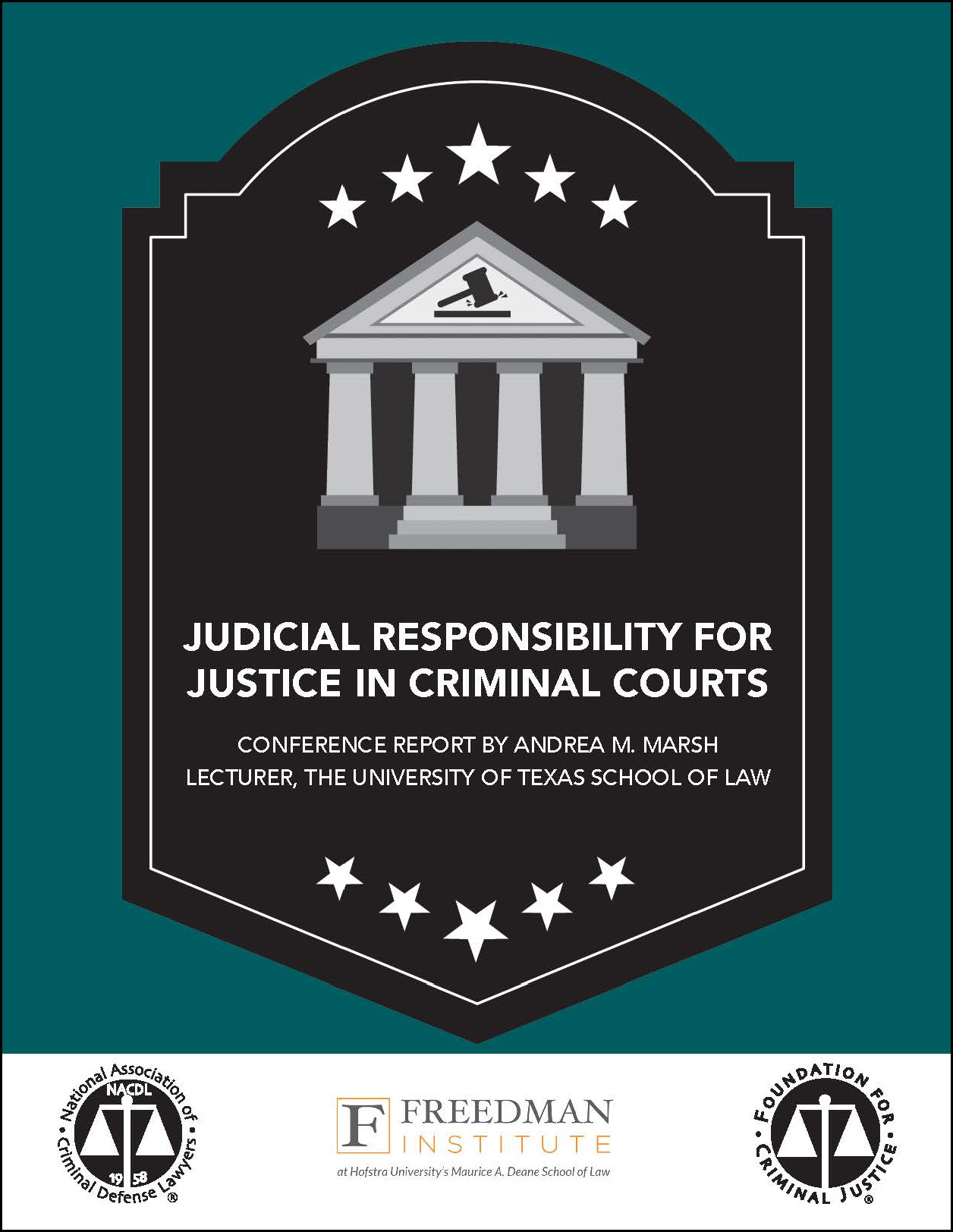 Judicial Responsibility for Justice in Criminal Courts Cover