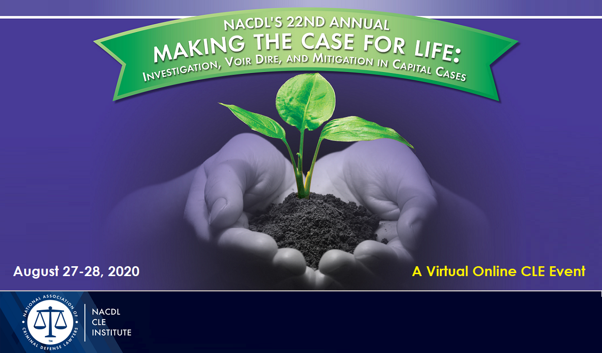 2020 Making the Case for Life Seminar - Virtual Event Cover