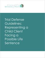 Report cover - Representing a Child Facing Life Sentence